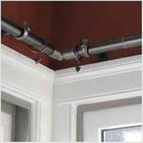 Kirsch Corner Window Curtain Rod Corner Window Curtains