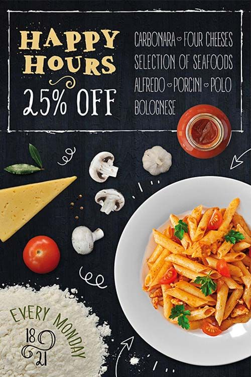 Pasta Restaurant Free Flyer Template   Pinteres