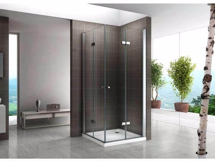 Duschkabine Duschabtrennung Eckeinstieg Falttür NANOESG