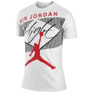 8845e06db7fe Jordan Classic Flight T-Shirt - Men s - Basketball - Clothing - Black Challenge  Red