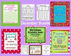december bundle! Enter for your chance to win 1 of 2. December Bundle - 290 pages!!!!  (290 pages) from IncredibleKKids on TeachersNotebook.com (Ends on on 11-22-2015) loads of great ideas.