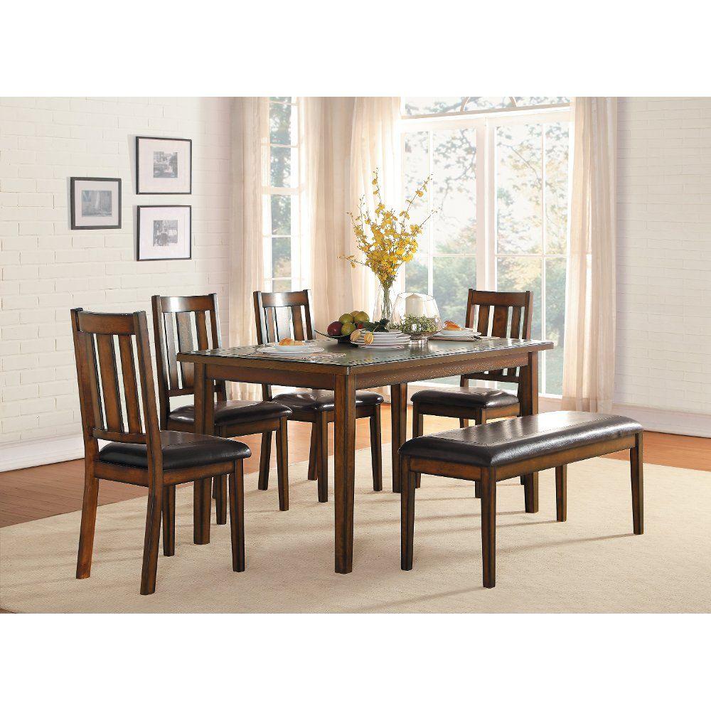Dark Cherry 6 Piece Dining Set Del Mar Dinette Sets Dining Room Table Set Furniture