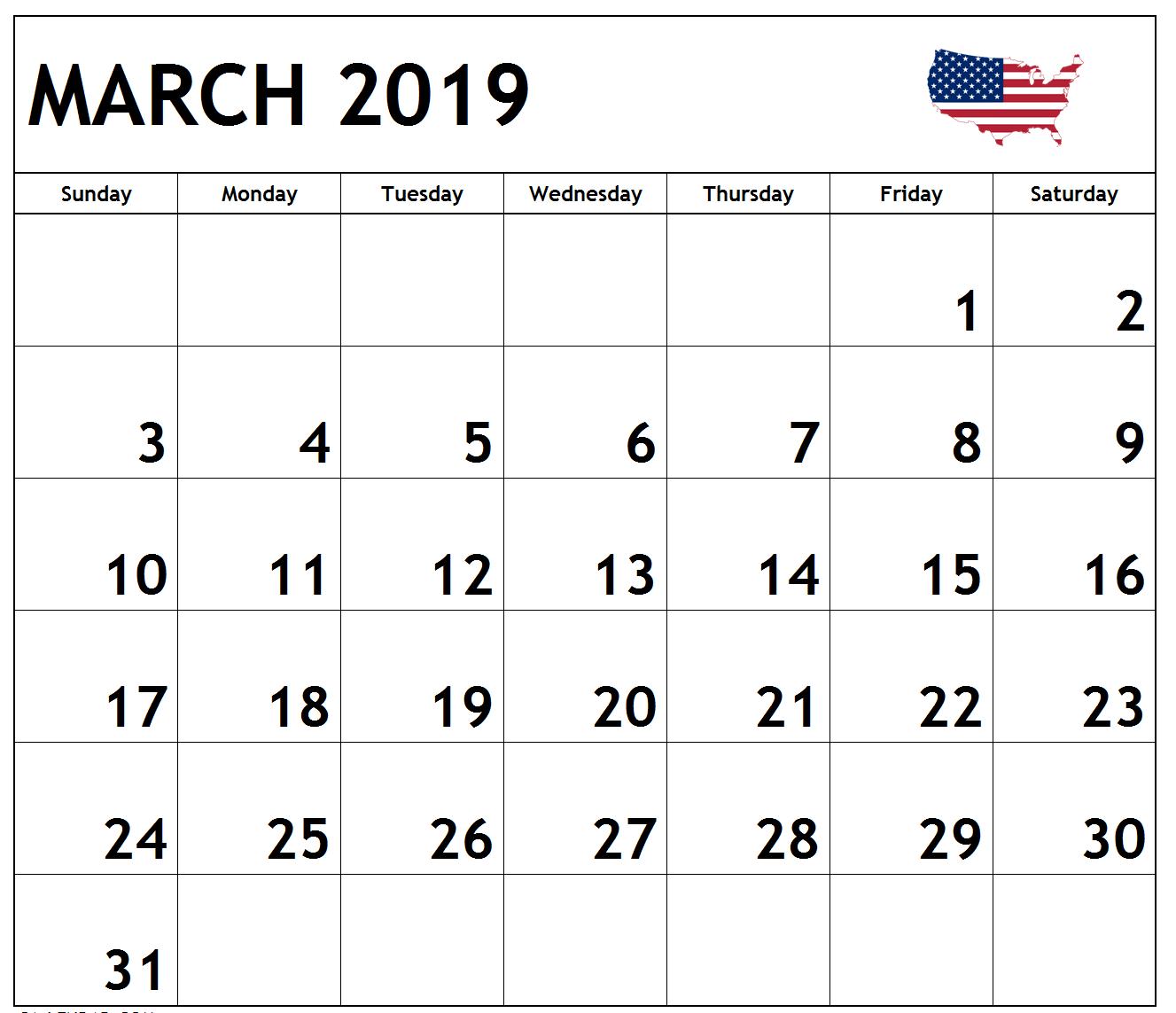 March Calendar Usa Holidays Federal National Bank