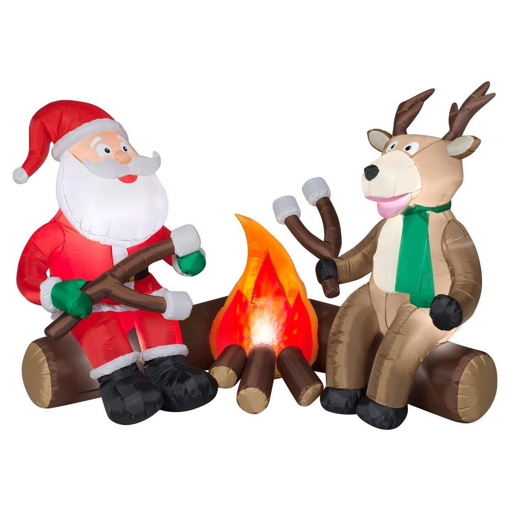 Projection Fire and Ice Santa and Reindeer Camping