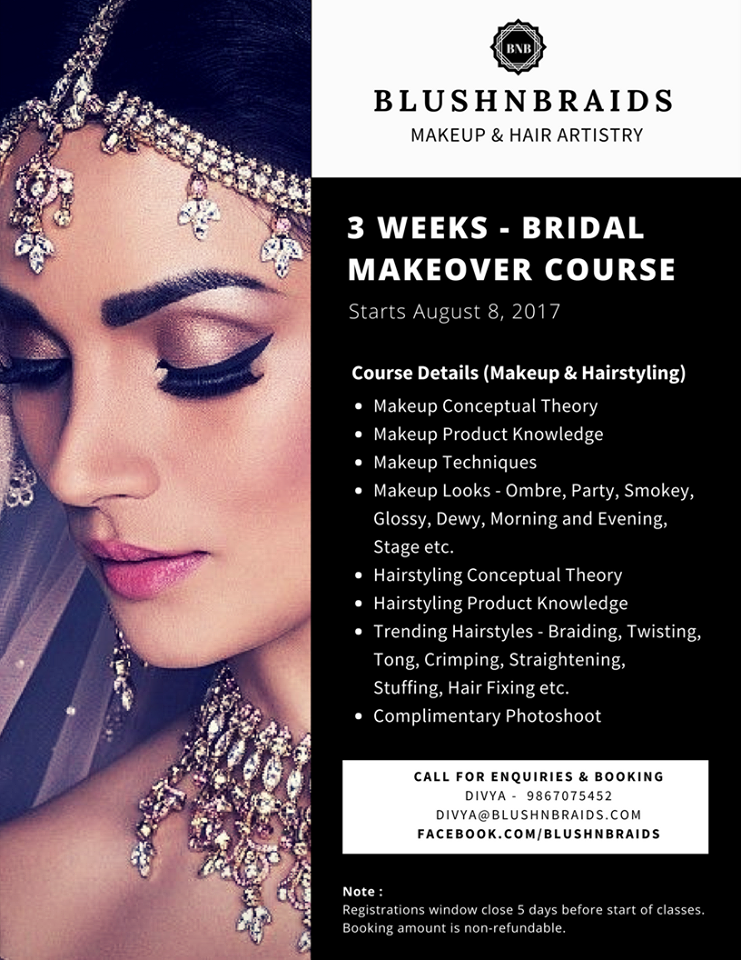 learn from basic to advance and become professional makeup artist and hairstylist in just 3 weeks. location : mumbai (andheri) for more information ...