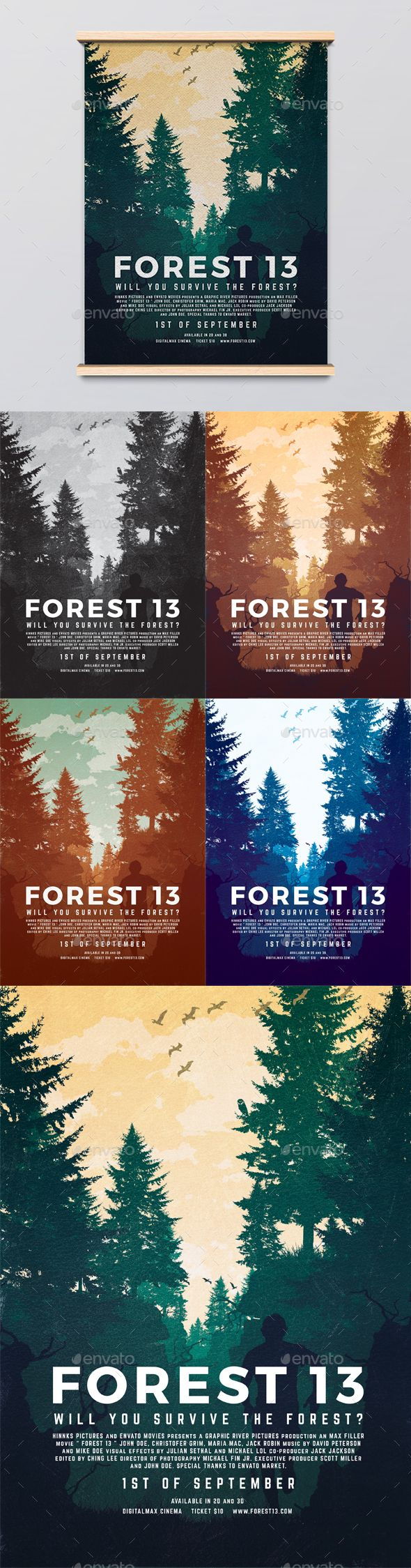 forest 13 movie poster template psd download here https