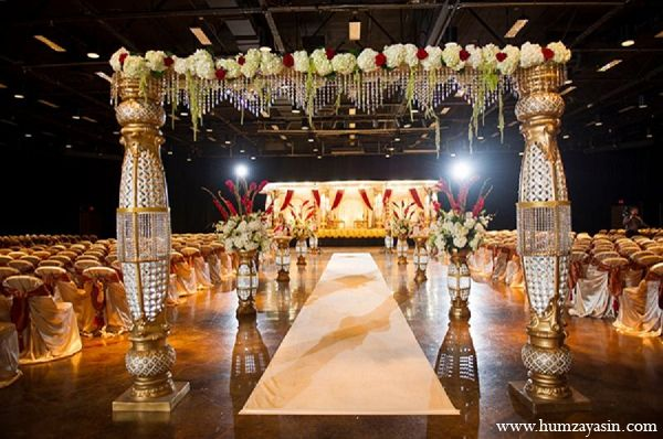 Indian Wedding Ceremony Mandap Gold White Hindu Http