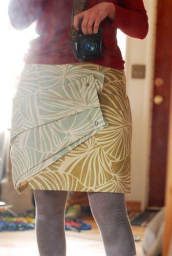 pleated wrap skirt inspiration