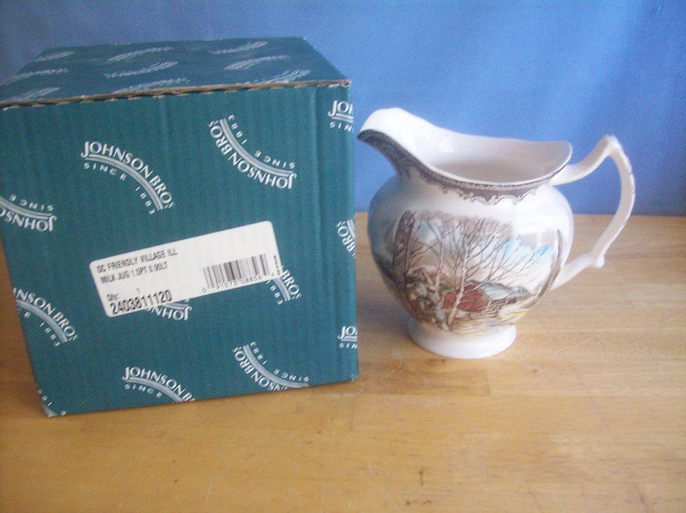 Johnson Bros Rio Friendly Village Milk Jug Mint In Box  | eBay