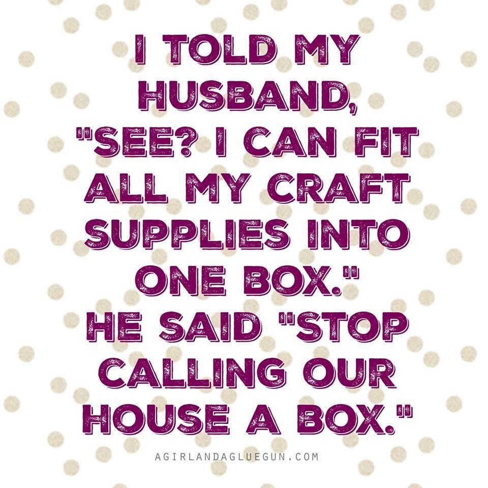 Crafting problems.