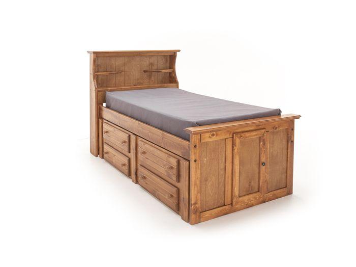 Sedona Twin Bookcase Bed
