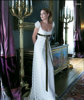 Lindo vestido al estilo de Josefina! ♥