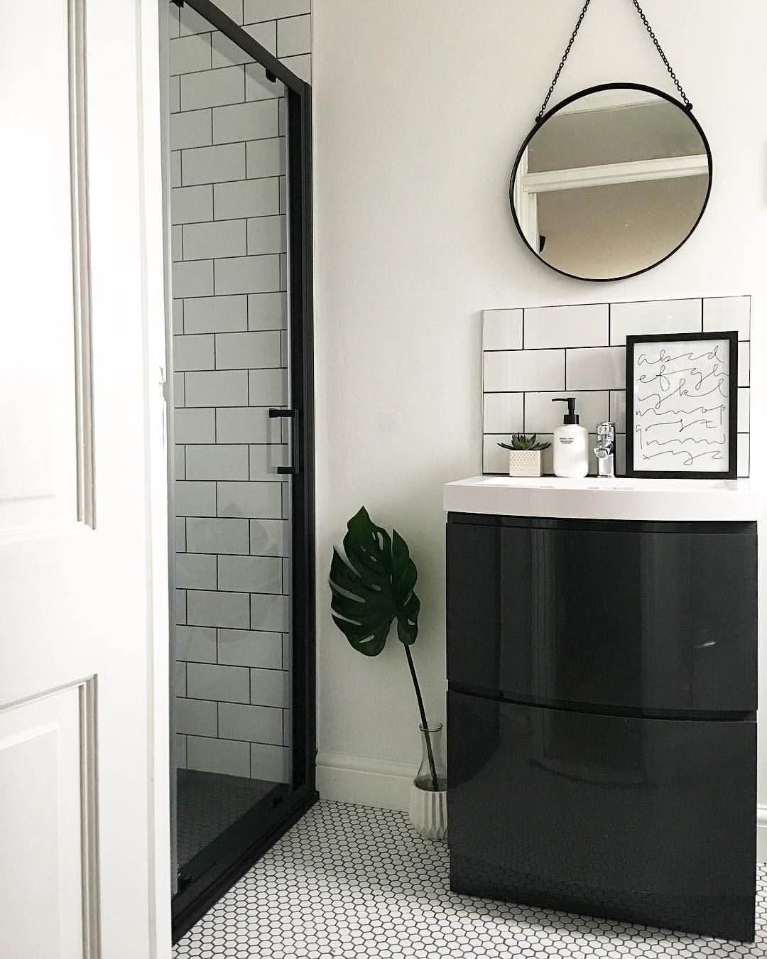 Shower screen from Victoria Plumb and white hexagon tiles from ...