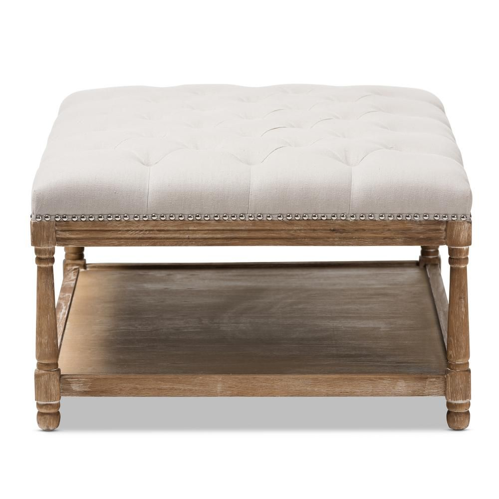 Best Baxton Studio Carlotta Beige Coffee Table Ottoman 640 x 480