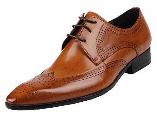 Zapatos para hombre, estilo clásico y formal, con cordones, de ante sintético, color Marrón, talla 40 EU