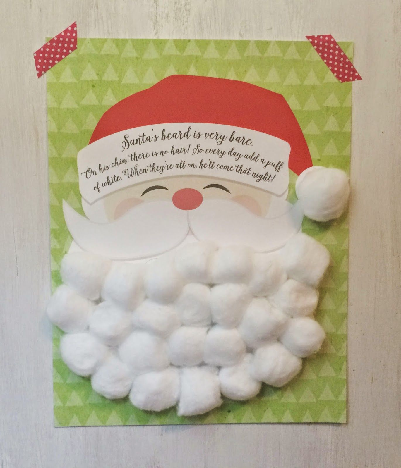 Free Printable} Santa Claus Beard Countdown Calendar | Christmas countdown calendar, Christmas countdown printable, Santa claus crafts