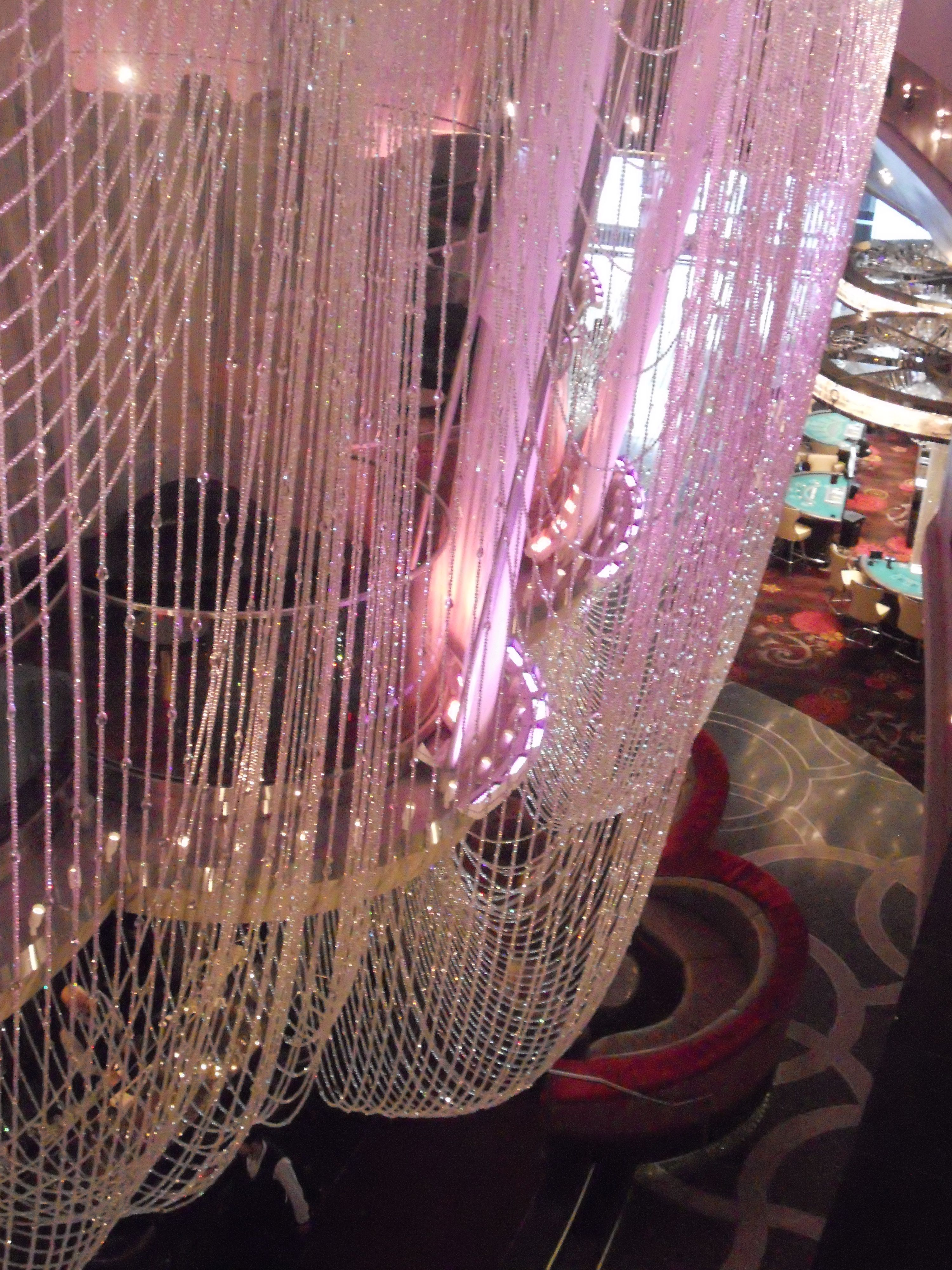 This is the Chandelier Bar at The Cosmopolitan Hotel in Las Vegas