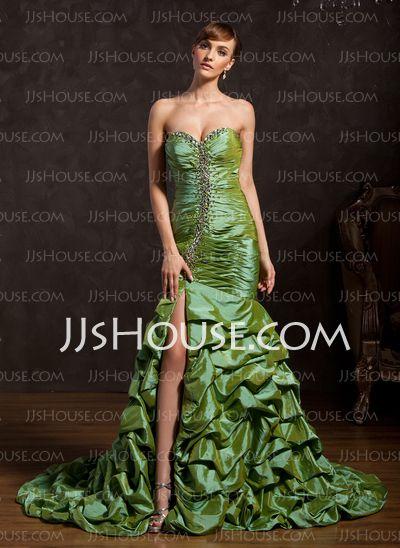 Prom Dresses - $182.99 - Mermaid Sweetheart Court Train Taffeta Prom Dress With Ruffle Beading (018015053) http://jjshouse.com/Mermaid-Sweetheart-Court-Train-Taffeta-Prom-Dress-With-Ruffle-Beading-018015053-g15053