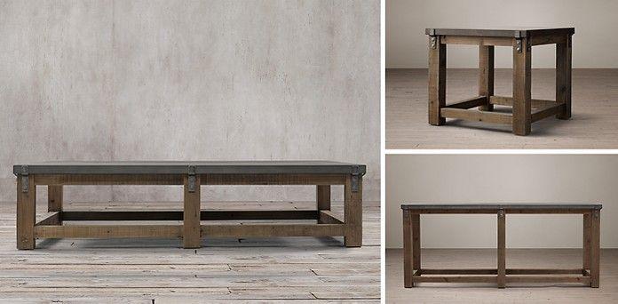 Wonderful Reclaimed Wood U0026 Zinc Strap | Restoration Hardware · Coffee CocktailsCocktail  TablesMinionRestoration ...