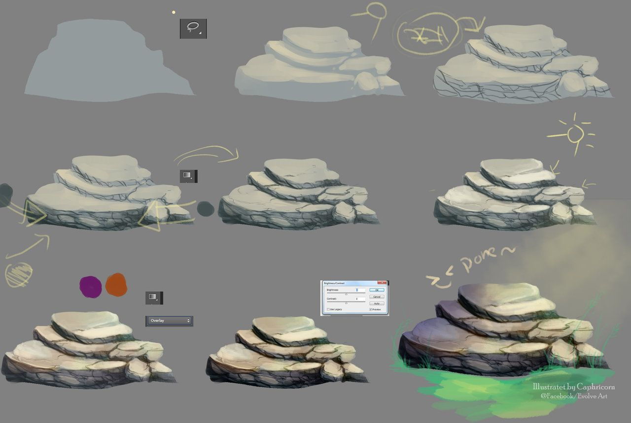 Tutorial how i make the stone by caphricorniantart on photoshop stone drawing tutorial by caphricorn baditri Images