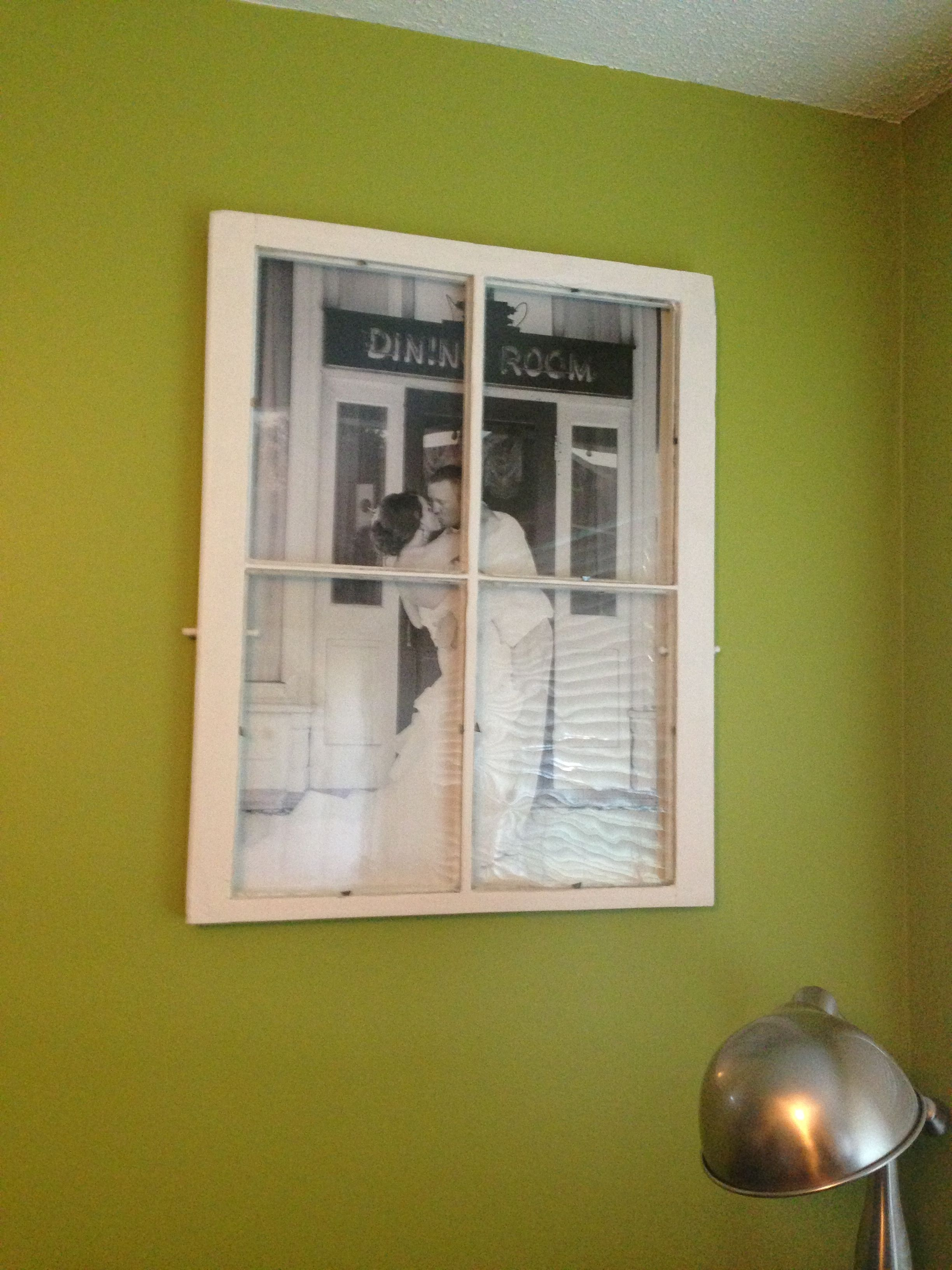 Old barn window pane turned into a picture frame. | My Pins ...