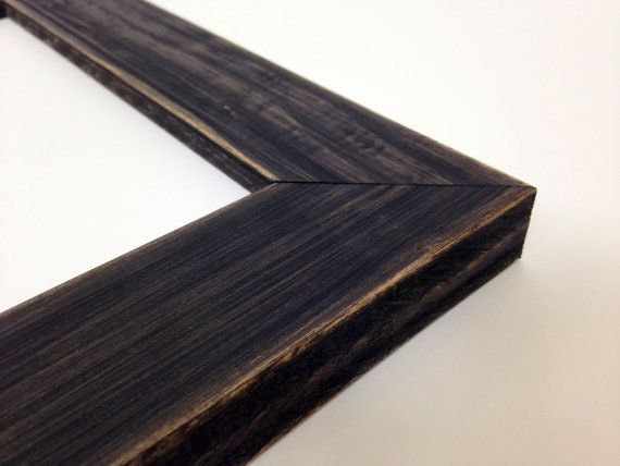 Black Rustic Wood Picture Frame Reclaimed Distressed Wood All