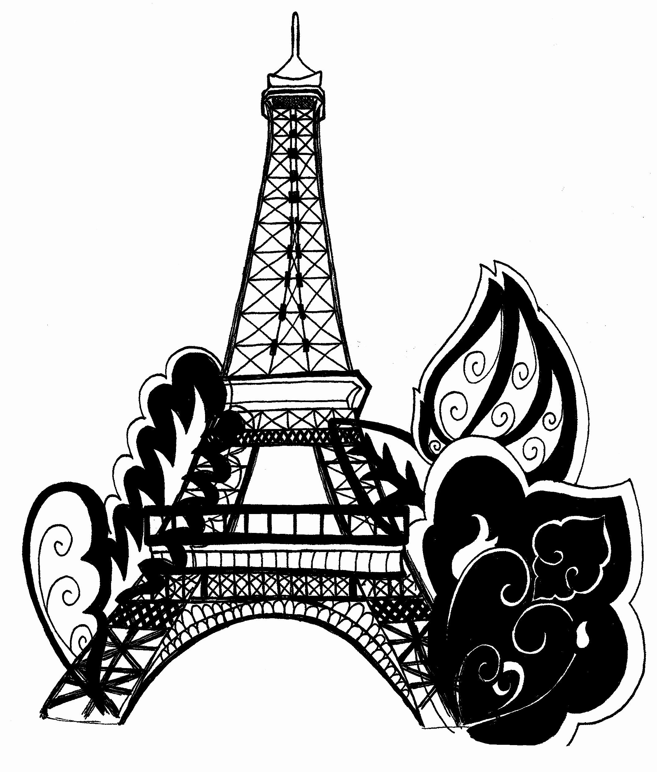 28 Eifel Tower Coloring Page In