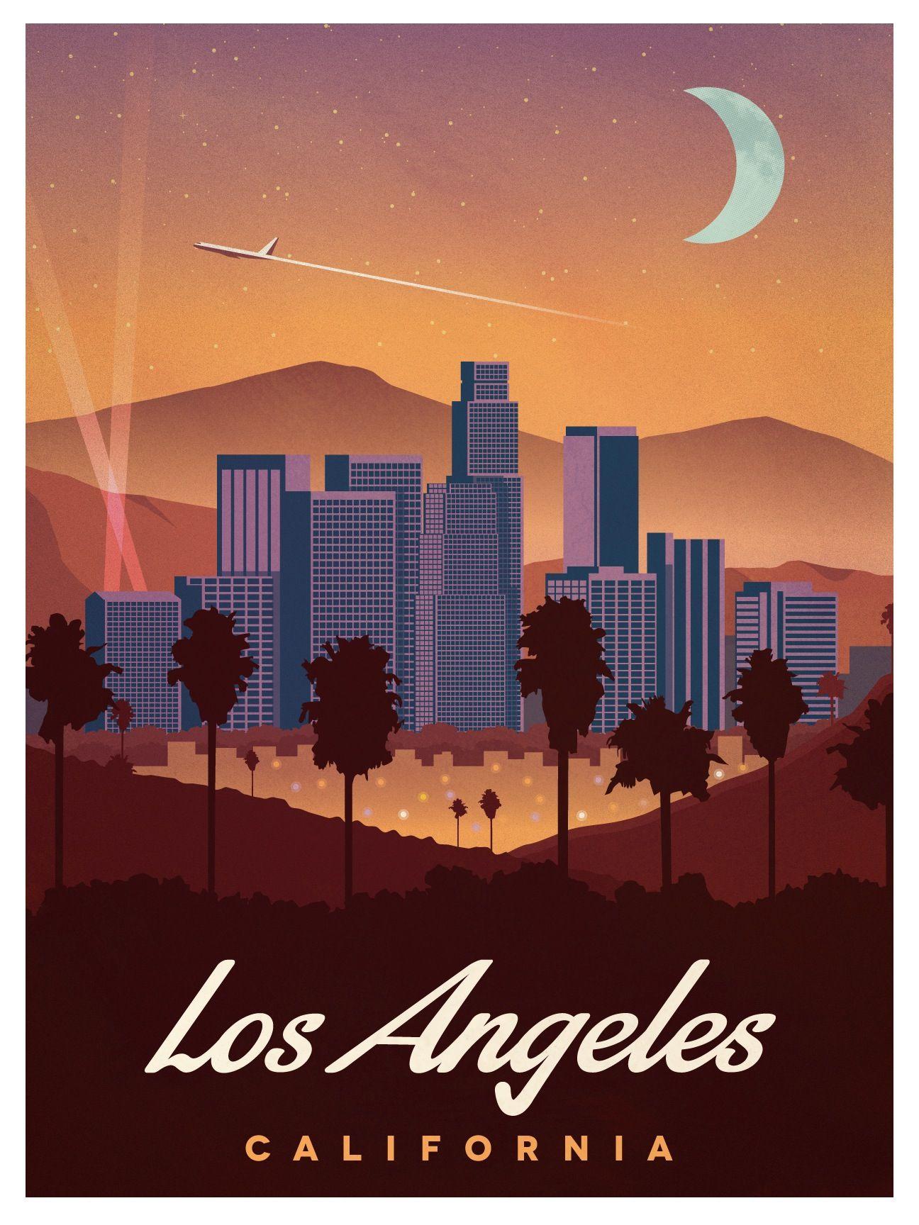 Design poster retro - Vintage Los Angeles Poster