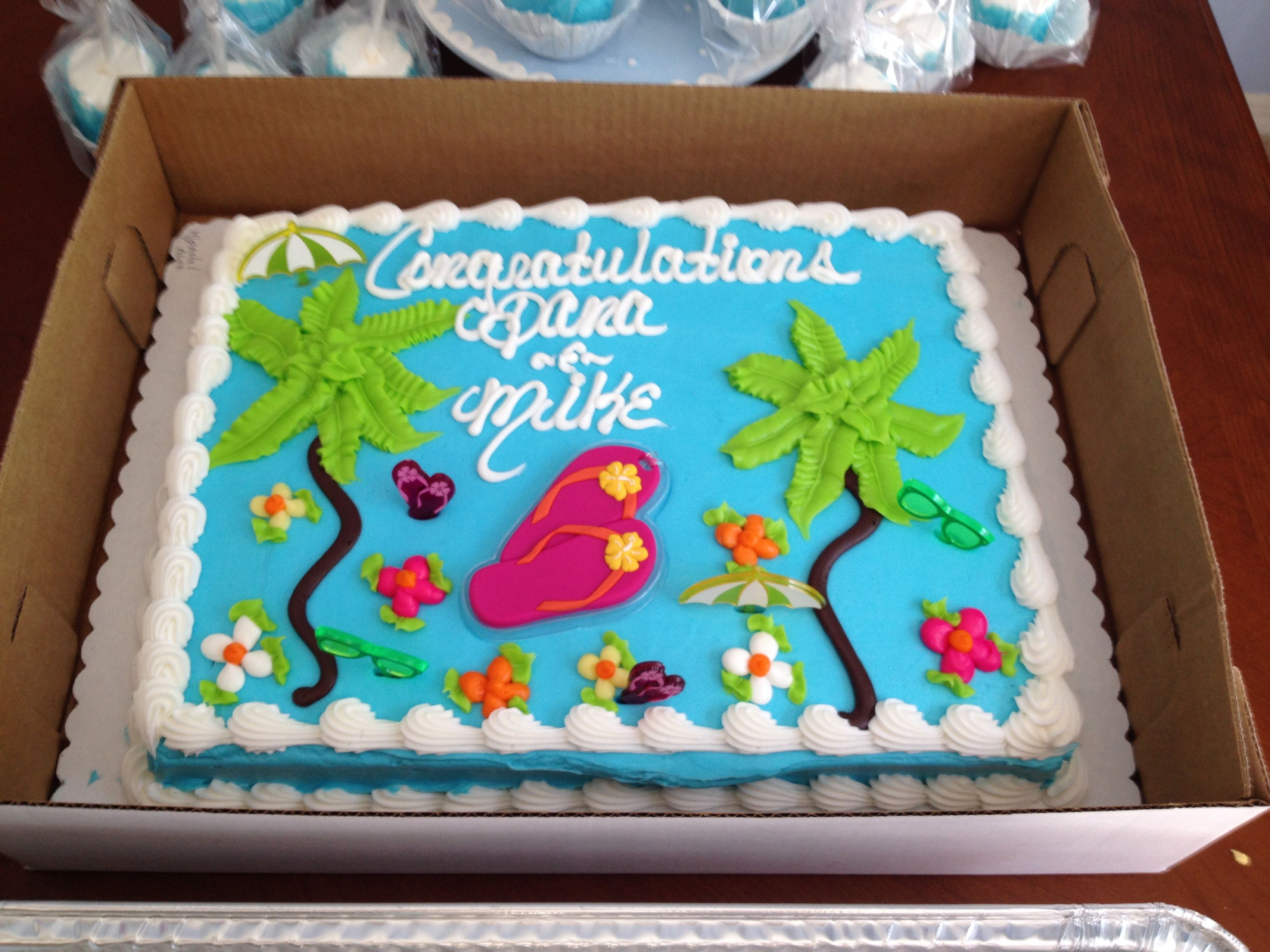 Tray Decoration For Baby Enchanting Tropical Cake Surf And Beach Theme  Babyq  Pinterest Inspiration Design
