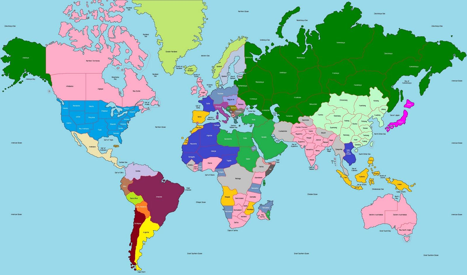 World map continents inside continent throughout pattravel me world map continents and oceans may need to make a few additions world map showing gumiabroncs Gallery