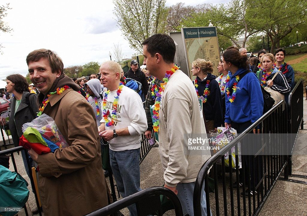 White House Easter Egg Roll Campout Line 2006 The Year That The