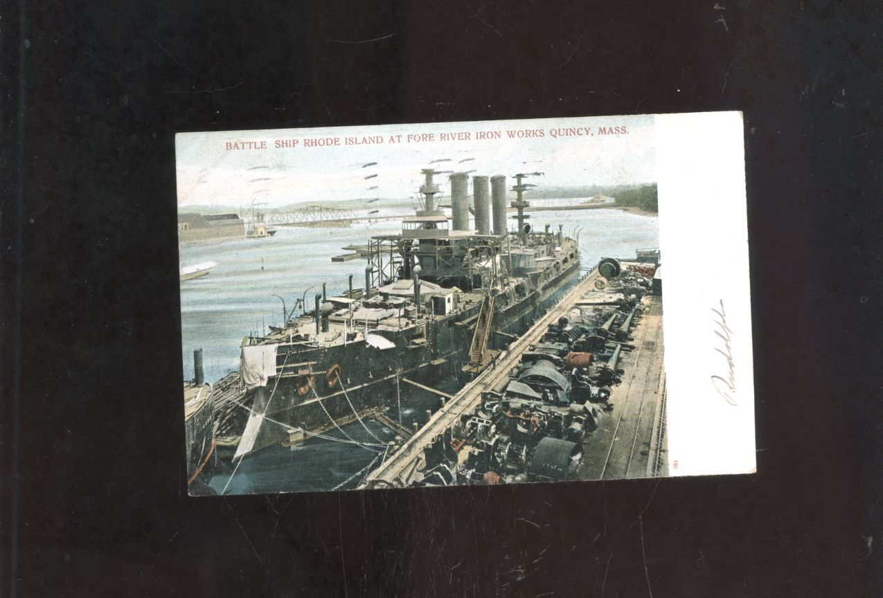 old Quincy Point MA  postcardBattleship Rhode Island Fore River ship-yard https://t.co/x7kkITZFcs https://t.co/U9n0bHQtXY http://twitter.com/Foemvu_Maoxke/status/774652665078906880