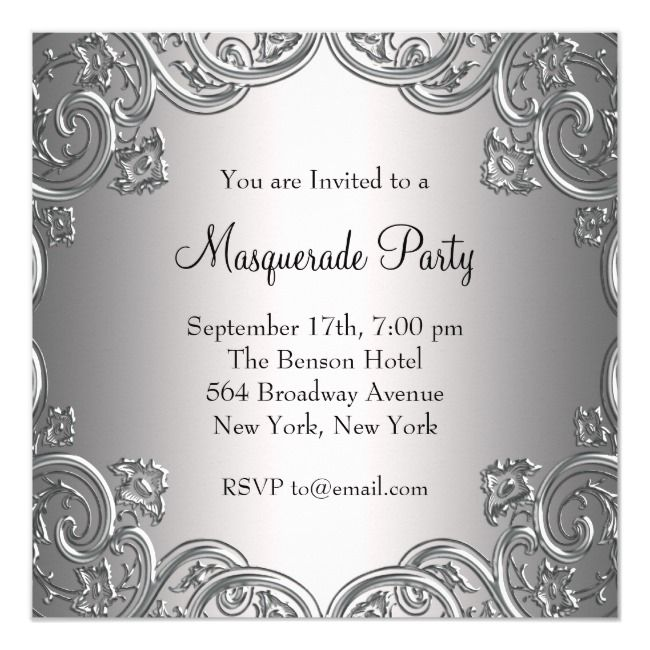 Create your own Invitation | Zazzle.com | Masquerade party ...