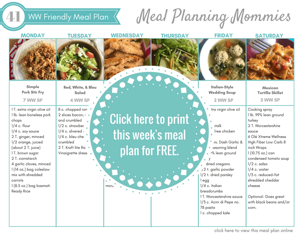 light diet menu plan