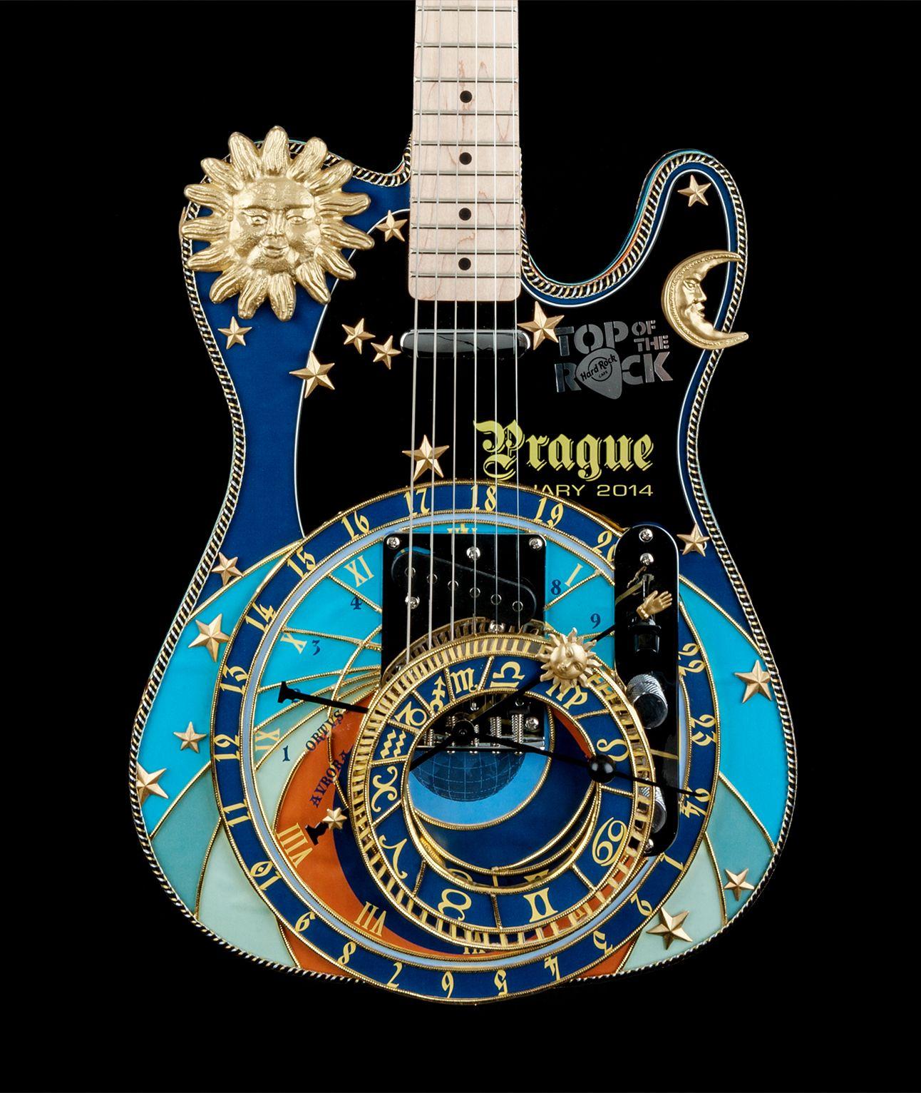Top Of The Rock Hard Cafe Prague Hardrock Guitar On Pinterest Steampunk Fender Telecaster And Epiphone Cool Art