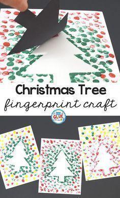Christmas Tree Thumbprint Art Christmas Pinterest Kerst