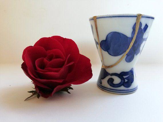 Bicchiere in porcellana giapponese, Kintsugi originale ...