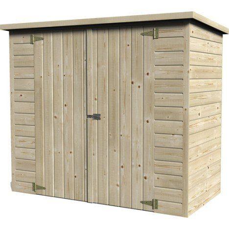 Abri A Velo Bois Naturelle L 193 X H 161 X P 98 Cm Craftsman Sheds Barn Style Shed Backyard Sheds