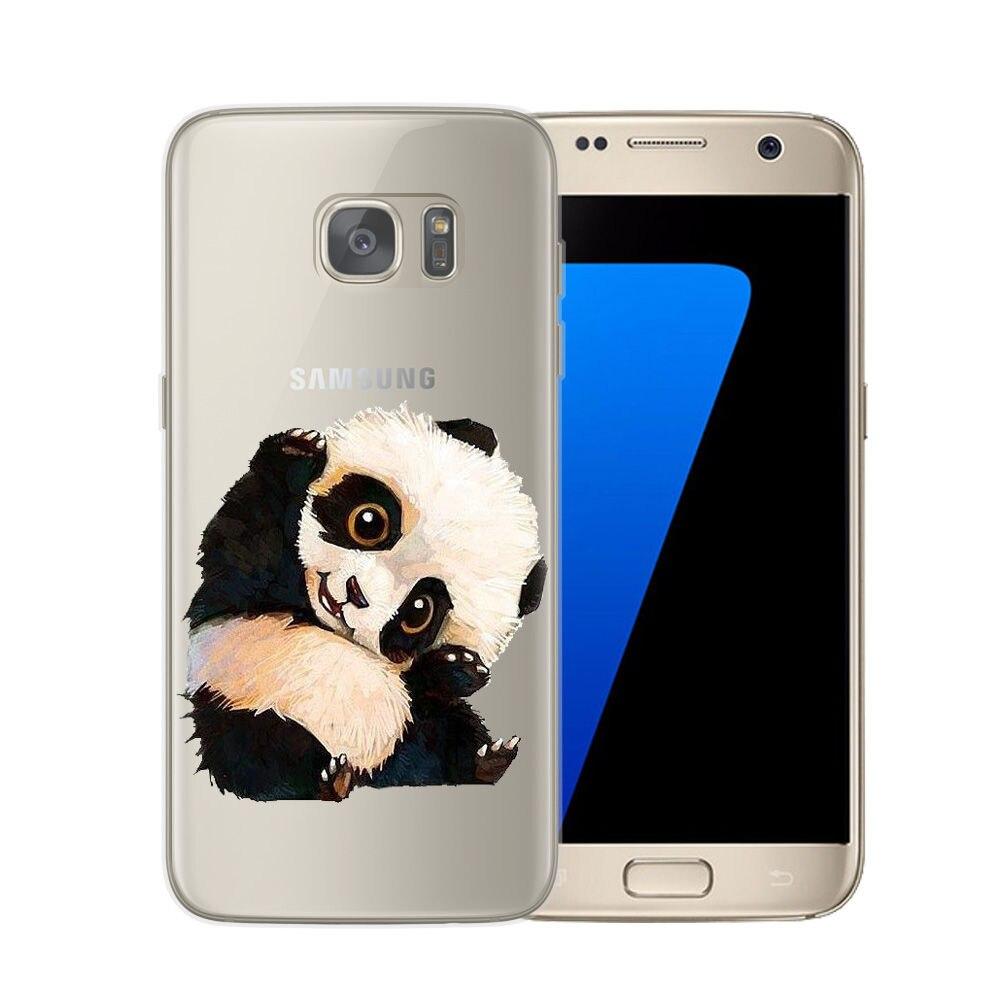 Cute Cartoon Cat Dog Coque Samsung Galaxy S6 S7 Edge S8 S9 Plus ...