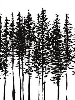 BW28742 Black And White Modern Tree Wallpaper