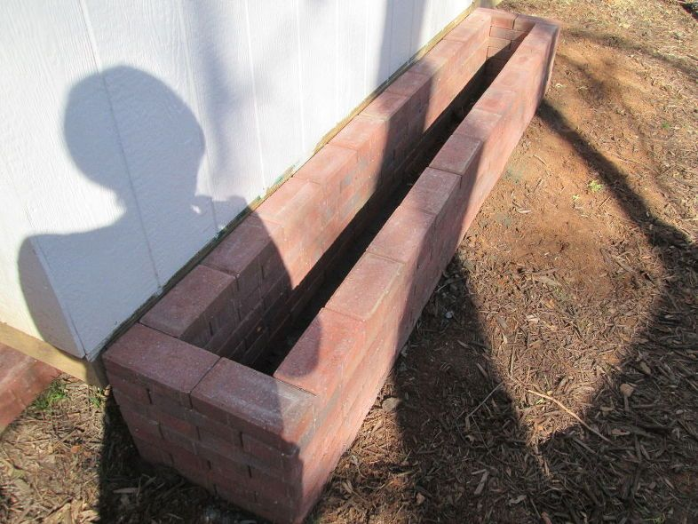 How to make a paving stone planter box stone planters