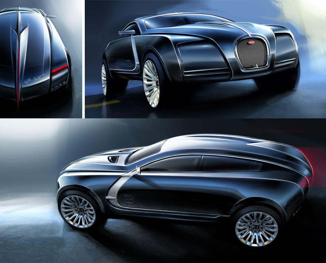 Bugatti SUV - 7th Term ACCD Project | Sketches and Models | Future