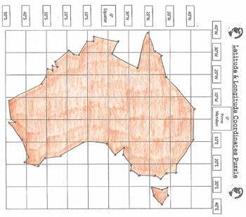 Longitude And Latitude Of Australia