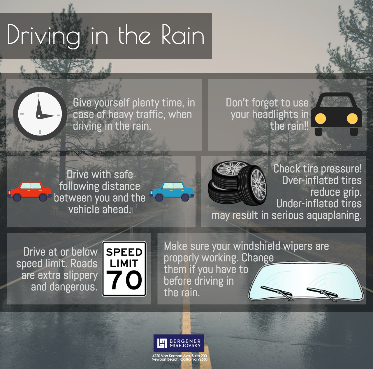 Driving In The Rain Safety Tips Safe Driving Tips Workplace