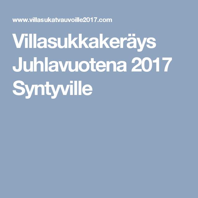 Villasukkakeräys Juhlavuotena 2017 Syntyville