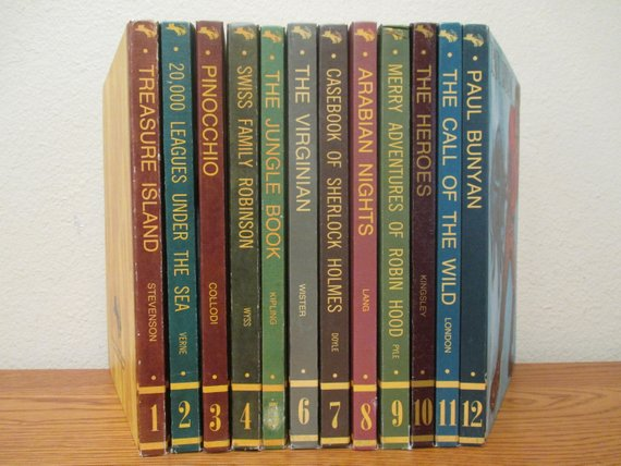 Vintage Educator Classic Library Book Set, Hardcover Book Set of 12, Classic  Reads | Classic library, Book set, Library books