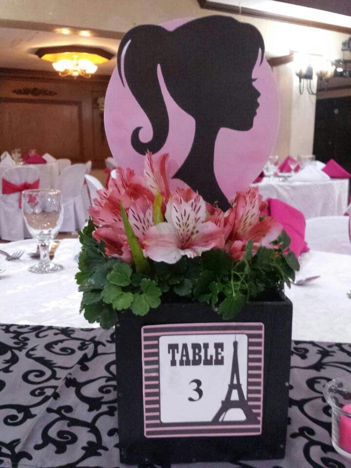 Barbie Paris Themed Centerpiece Paris Theme Centerpieces