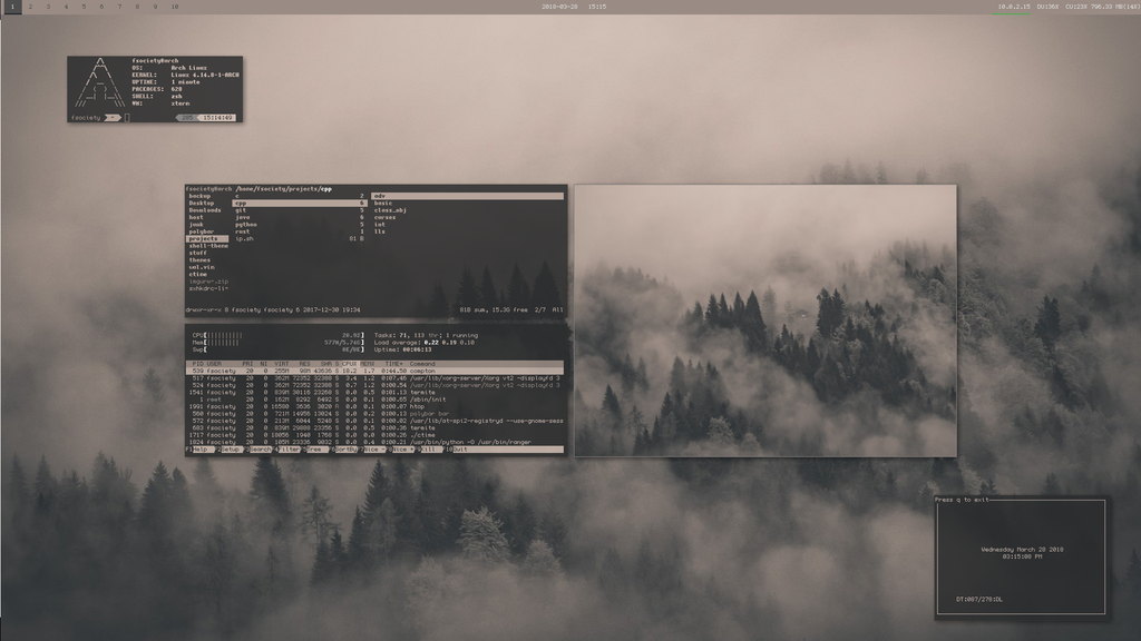 bspwm] Chill minimal Arch theme : unixporn | Linux в 2019 г