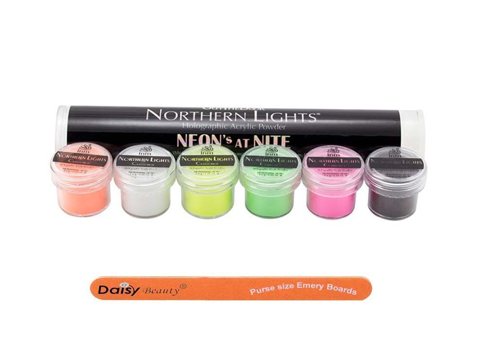 Out The Door Northern Lights Holographic Acrylic Powder Neon S At Nite Kit 1 Daisy Beauty Purse Size Emery Board See This Great Product