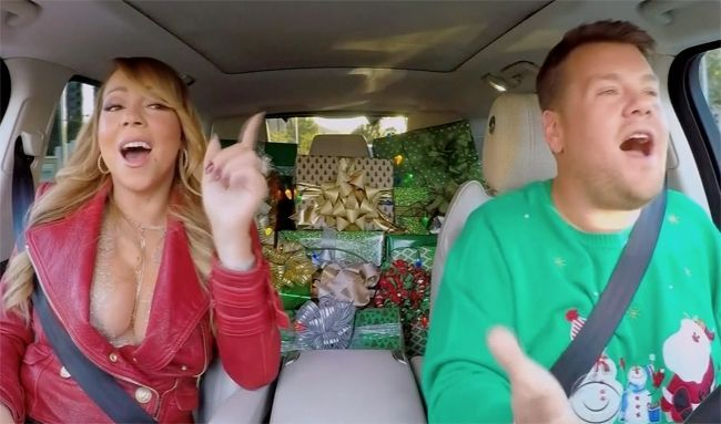 James Corden Put Together A Special All Star Christmas Carpool Karaoke With Help From Mariah Carey Mariah Carey Christmas Carpool Karaoke Carpool Karaoke